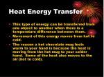heat energy transfer