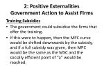 2 positive externalities government action to assist firms1