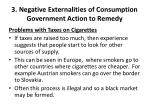 3 negative externalities of consumption government action to remedy4