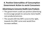 4 positive externalities of consumption government action to assist consumers2