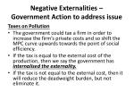 negative externalities government action to address issue