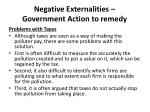 negative externalities government action to remedy