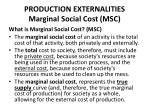 production externalities marginal social cost msc