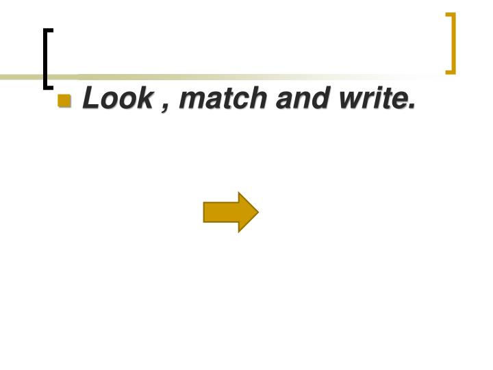 Look , match and write.