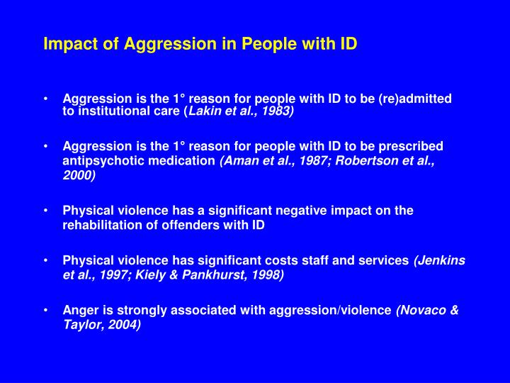 Impact of Aggression in People with ID