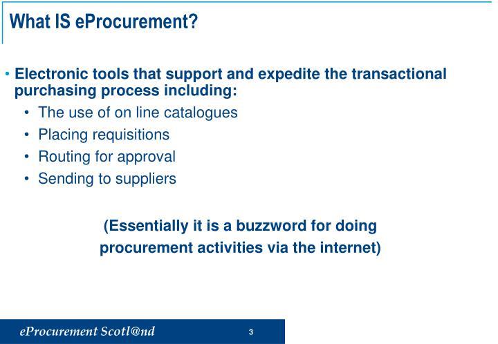 What is eprocurement