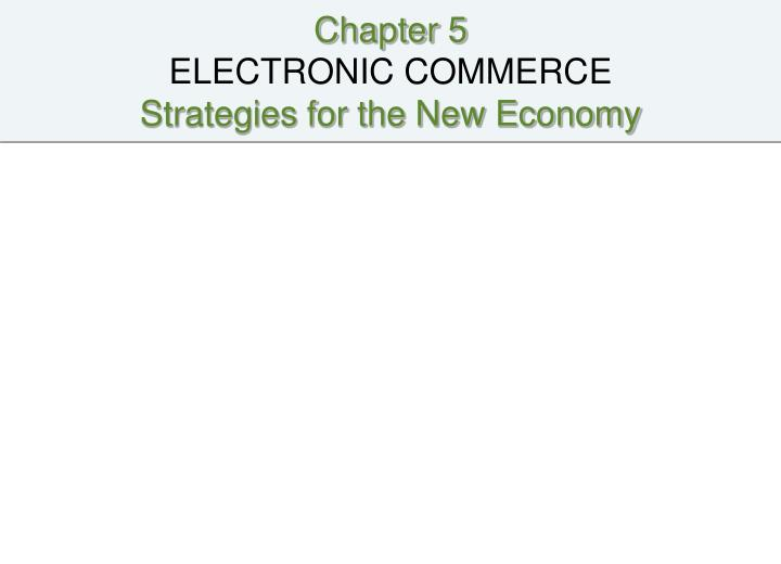 cases chapter 1 introduction to electronic commerce Introduction to e-commerce definition (business prospective) electronic commerce is the application of the technology towards the automation of business transaction 5 introduction to e-commerce definition (service prospective ) electronic commerce is a tool that addresses the desire of firms, consumers, and management to improve the quality.