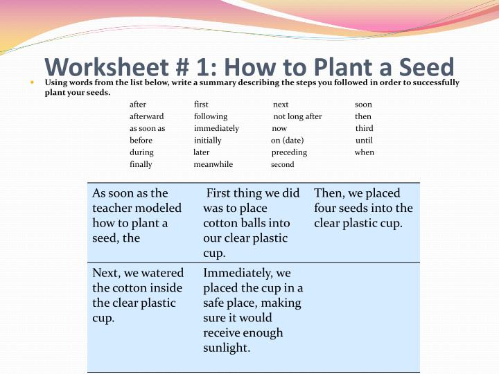 Ppt The Life Cycle Of Plants Mst Unit Powerpoint Presentation Id. Worksheet 1 How To Plant A Seed. Worksheet. Inside A Seed Worksheet At Clickcart.co