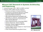 missouri s t research in systems architecting and engineering