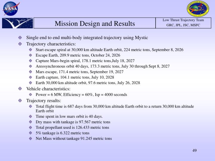 Mission Design and Results