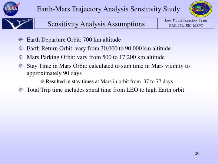 Earth Departure Orbit: 700 km altitude