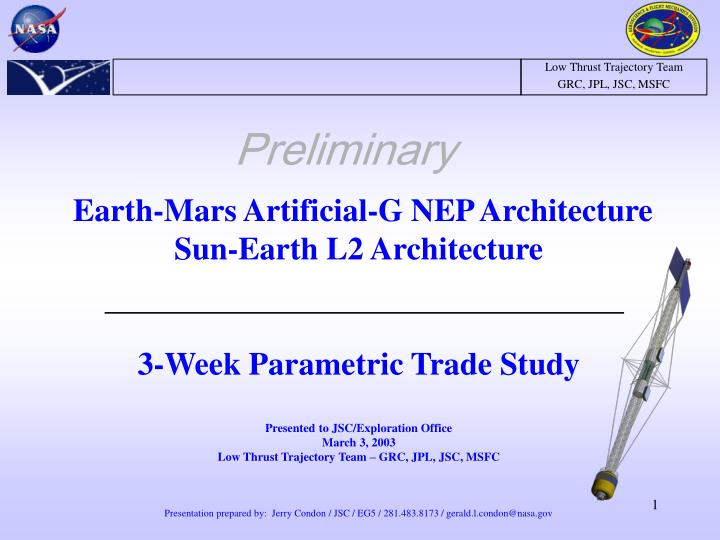 Earth-Mars Artificial-G NEP Architecture