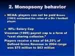 2 monopsony behavior