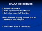 ncaa objectives