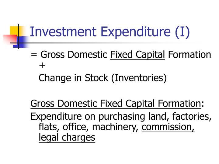 Investment Expenditure (I)