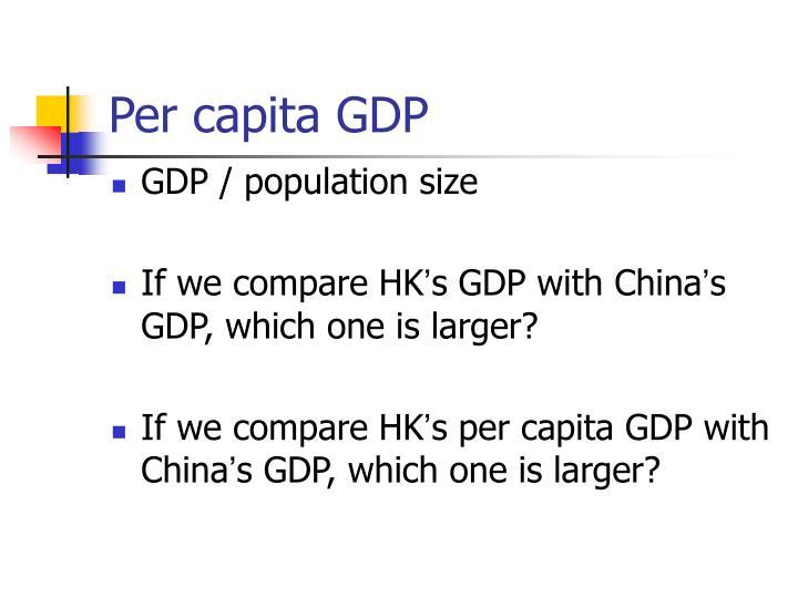 Per capita GDP