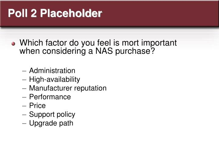 Poll 2 Placeholder