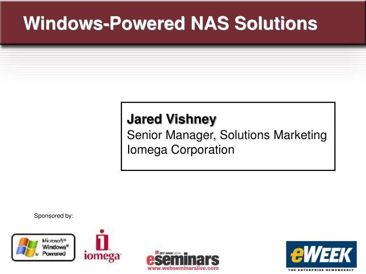 Windows-Powered NAS Solutions