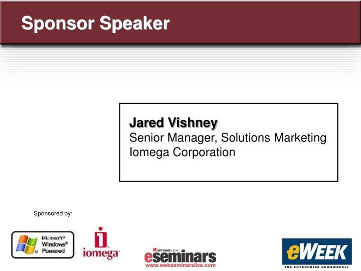 Sponsor Speaker