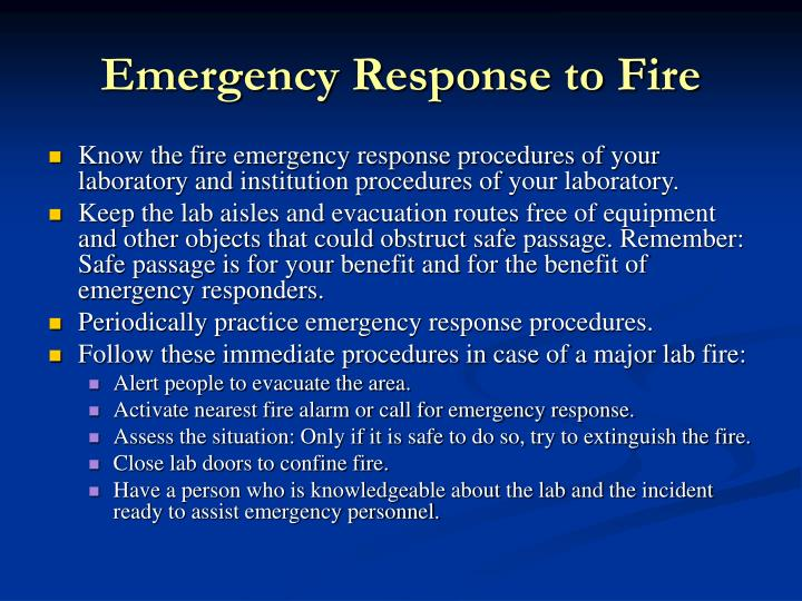 Emergency Response to Fire
