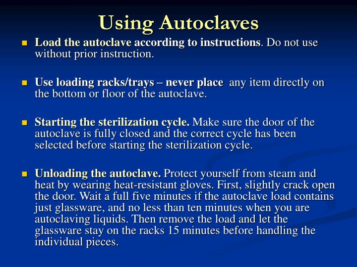 Using Autoclaves
