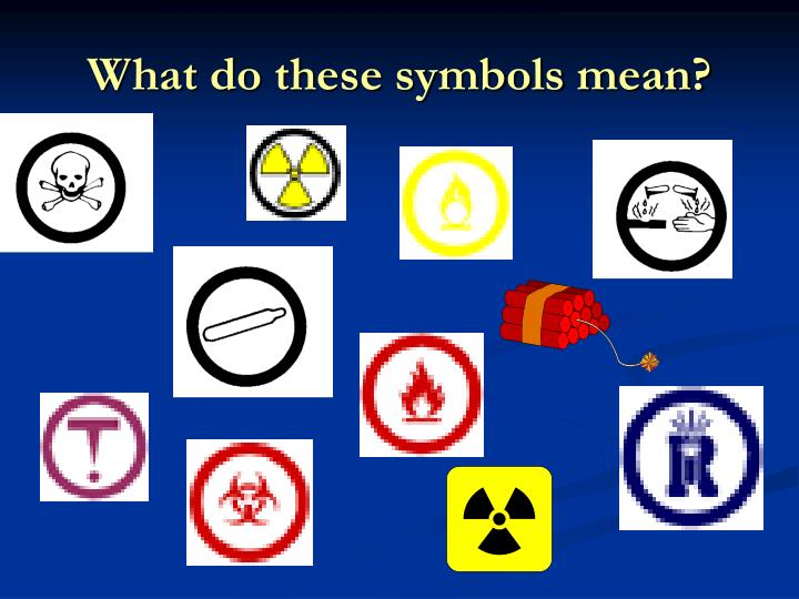What do these symbols mean?