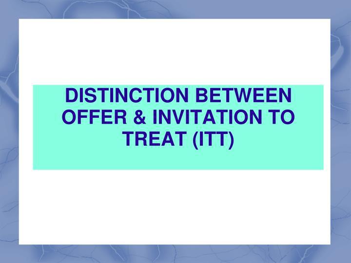 offer invitation to treat