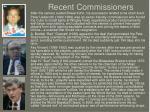 recent commissioners