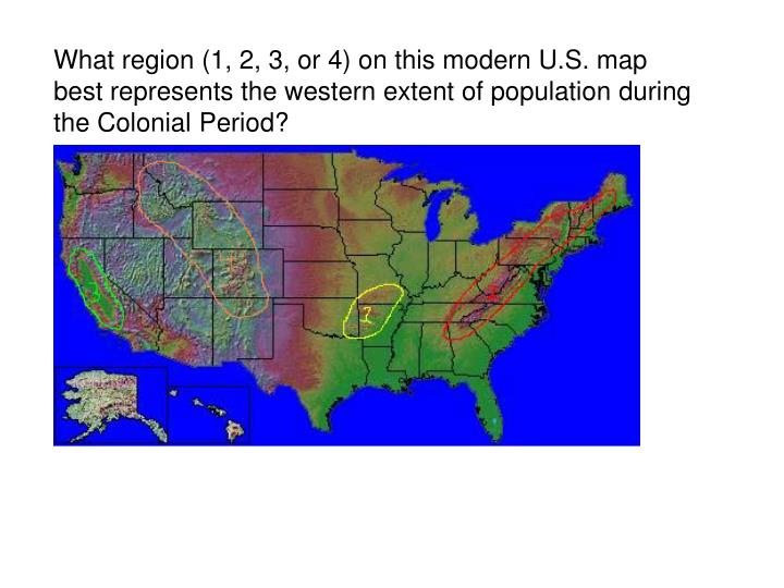 Modern Us Map.Ppt What Region 1 2 3 Or 4 On This Modern U S Map Powerpoint