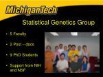 statistical genetics group