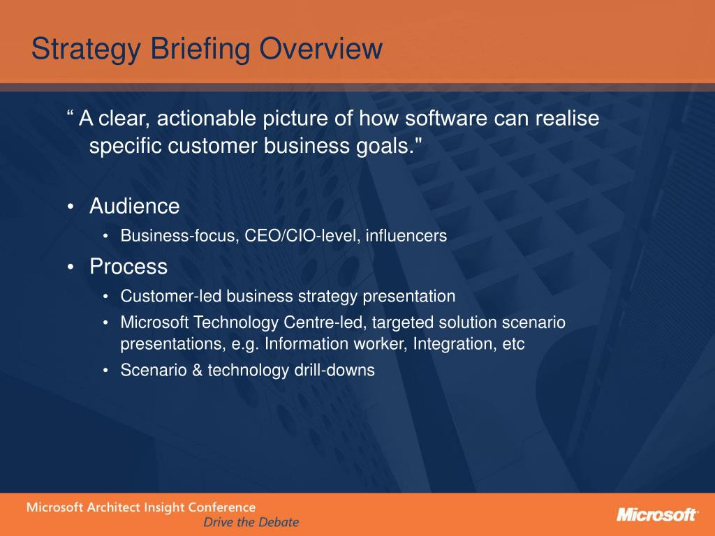 PPT - The Microsoft Technology Centre Process - Accelerating