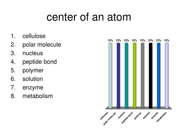 center of an atom