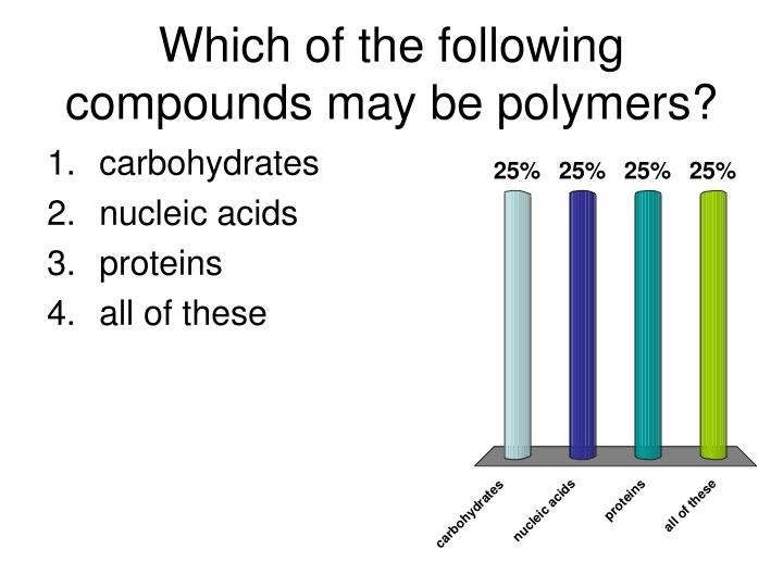 Which of the following compounds may be polymers
