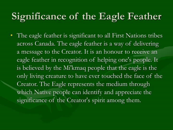 Significance of the Eagle Feather
