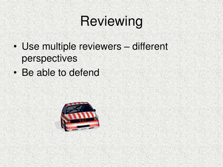 Reviewing