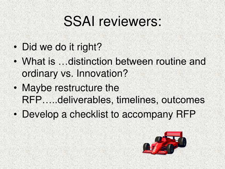 SSAI reviewers: