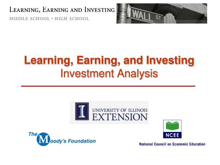 learning earning and investing investment analysis n.
