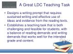 a great ldc teaching task1