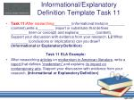 informational explanatory definition template task 11