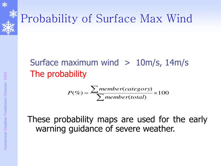Surface maximum wind  >  10m/s, 14m/s