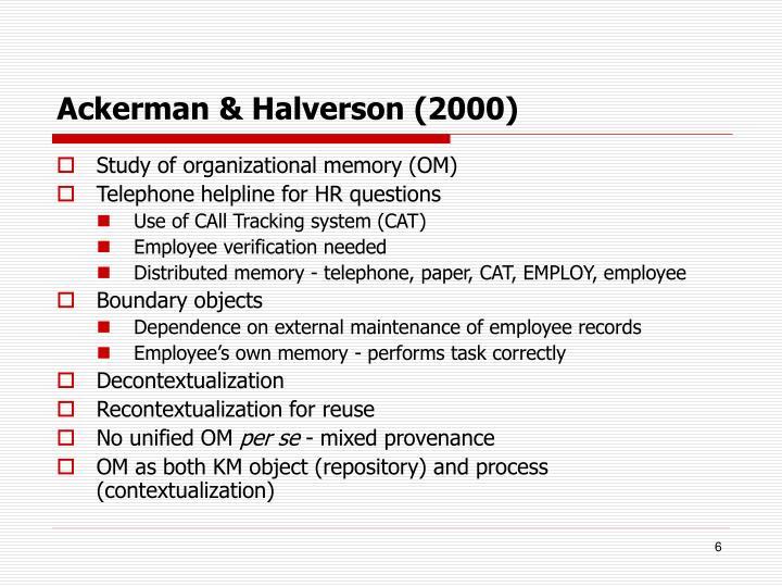 Ackerman & Halverson (2000)