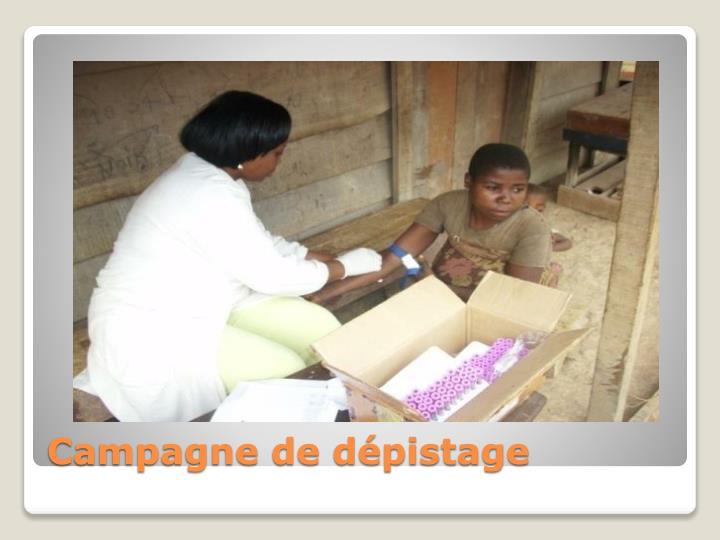 Campagne de dépistage