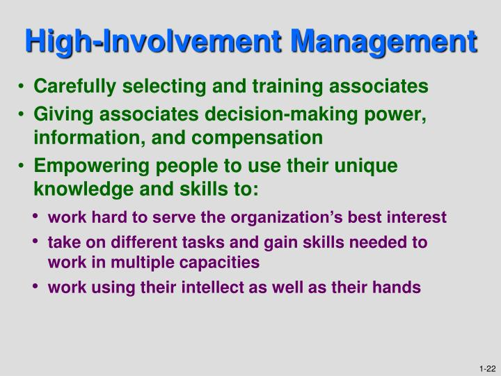High-Involvement Management