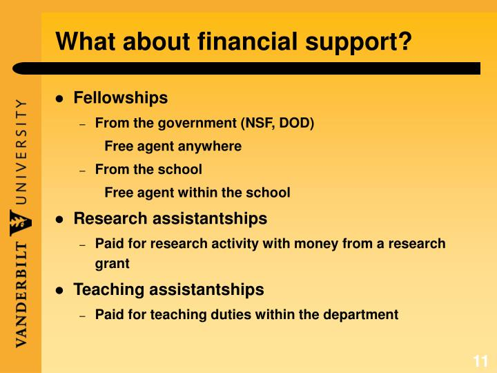 What about financial support?