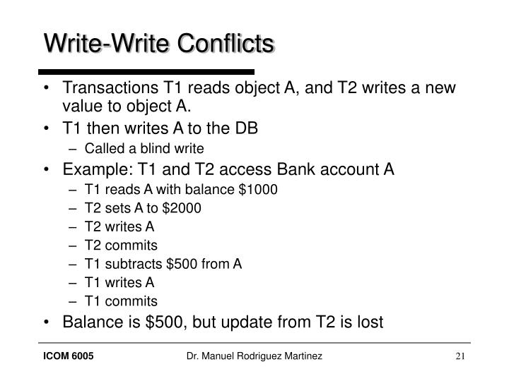 Write-Write Conflicts