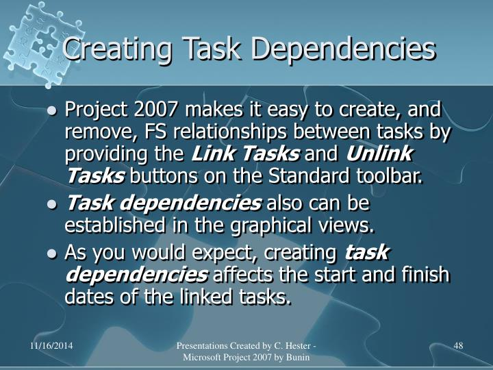 Creating Task Dependencies