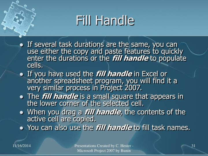 Fill Handle