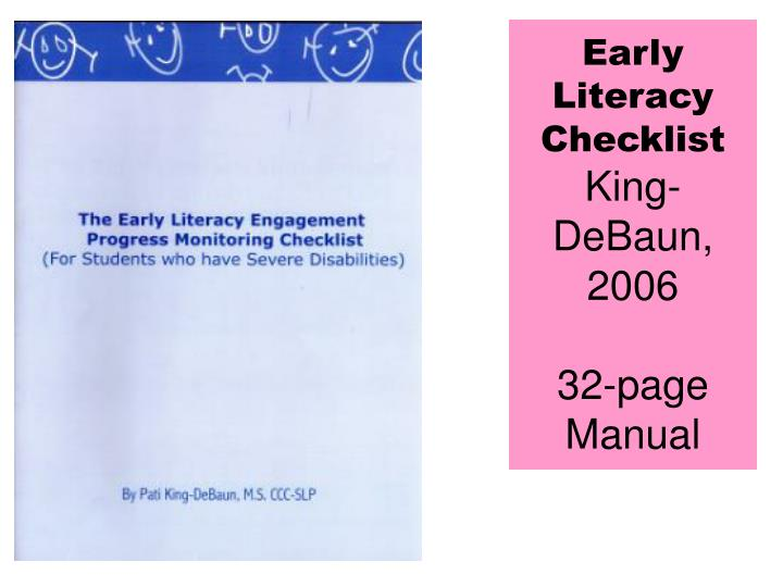 Early Literacy Checklist