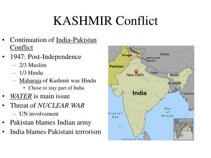 conflict over kashmir India and pakistan - nuclear states in conflict when india and pakistan - nuclear states in conflict the history of the conflict over kashmir is well.