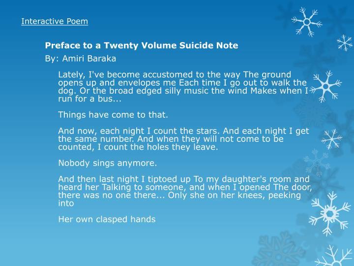 Interactive Poem